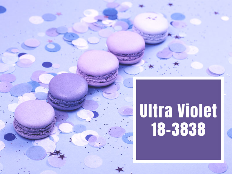 Farbe des Jahres Ultra Violet Macarons
